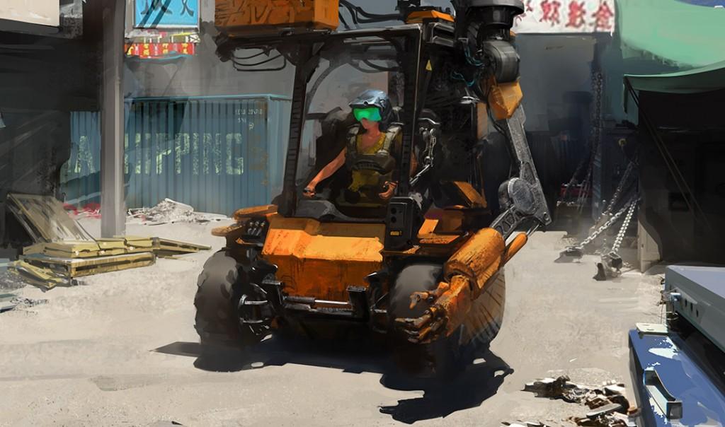 loader forklift operator exoskeleton powerloader arm