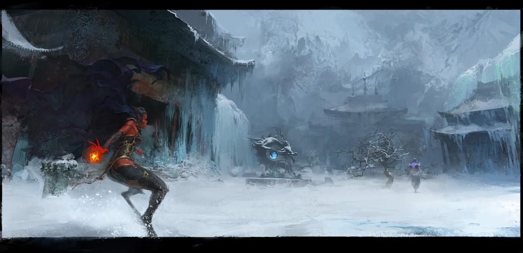 demoness hexen praevus fanart winter tibet snow ice tulku