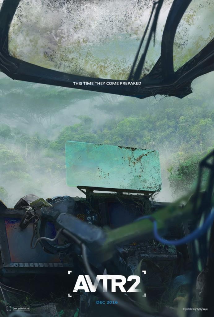 poster teaser film avatar avtr 2 avtr2 sequel concept jungle amp suit robot arm abandoned overgrown vines foliage