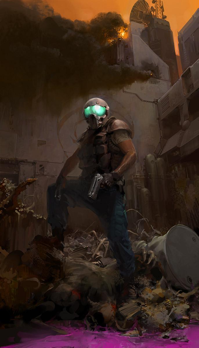 doom marine mars demon sludge pepto bismol pistol